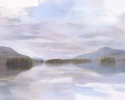 Floating (Lake George) – 2011 – Hybrid on Paper – 19″H x 30″W