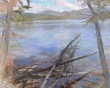 The Space Between (Elk Lake) – 2011 – Hybrid on Canvas – 48″H x 36″W