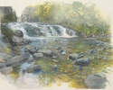 Swimming Hole (Buttermilk Falls) – 2012-2013 – Hybrid on Paper – 20″H x 31″W