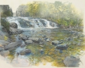 Swimming Hole (Buttermilk Falls) – 2012-2013 – Hybrid on Paper – 20″H x 31″W